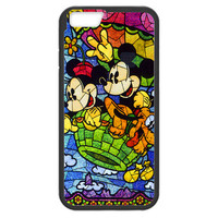 Disney Mickey & Minnie Mouse Stained Glass Iphone 6 PLUS (5.5-inch) TPU Bumper Case
