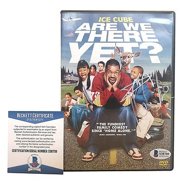 Ice Cube Autographed Are We There Yet DVD Case Beckett BAS S38709