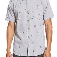 Men's Vans 'Bason' Short Sleeve Print Oxford Shirt,