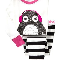 Penguin-Graphic PJ Sets for Baby