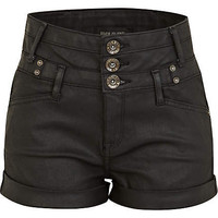 Black high waisted shorts
