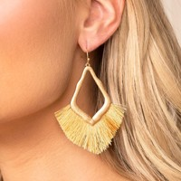 Morning Sun Honey Fringe Earrings