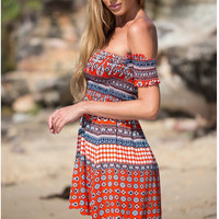 Hot Sale Print Summer Boho One Piece Dress [4920497924]