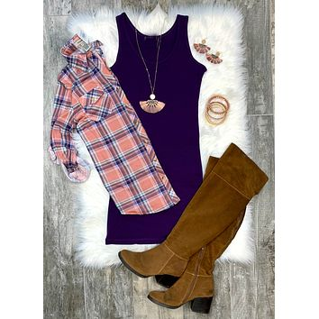 Basic Tank Dress: Purple