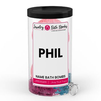 PHIL Name Jewelry Bath Bomb Tube