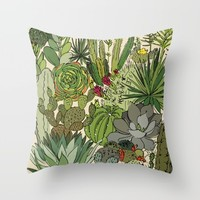 cactus Throw Pillow by Praia By LSánchez