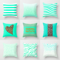 Mint Pillows by M Studio - EACH SOLD SEPARATELY