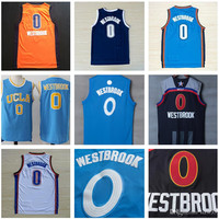 Stitched Mens #0 Russell Westbrook Jersey College, Christmas, All star Westbrook Basketball Jersey Blue/Black/Orange/Navy S-XXL