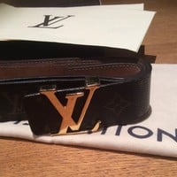Louis Vuitton Monogram Belt With Receipt 90cm Unisex