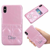 Dior Protective Card Holder Case - Pink