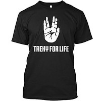Treky For Life Hand Gesture Nerdy Tee