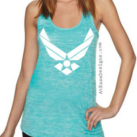 Air Force Burnout Tank. USAF at ease designs usmc navy army uscg clothing