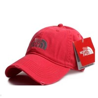 DCCKUNT Watermelon Red The North Face Cotton Baseball Golf Cap Hat