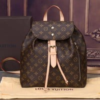LV Backpack Louis Vuitton Satchel Tartan Print Buckle Belt Women Men Bag B-MYJSY-BB LV Print