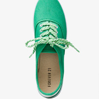 Striped Lace-Up Sneakers