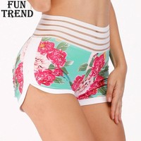Sport Shorts For Women Floral High Waist Yoga Shorts Women Fitness Running Shorts Jogging Athletic Workout Shorts Sport Clothing