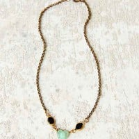 Lux Revival Faux Deco Glass Scarab Necklace- Assorted One