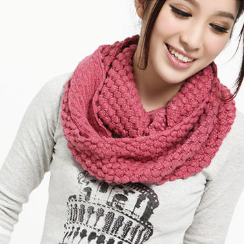 Knitted Long Ring Scarf