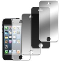EMPIRE 4 Pack of Screen Protectors for Apple iPhone 5 / 5S / 5C (Mirror, Matte, Regular, Privacy)