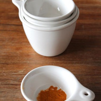White Bungalow Measuring Cups