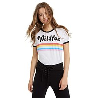 Striped Wildfox Ringer Tee