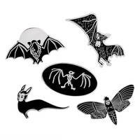 Bats Moths and Skeletons Pins