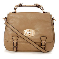 Panache and Carry Taupe Handbag by Urban Expressions