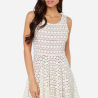 Others Follow Waltz Sleeveless Ivory Dress
