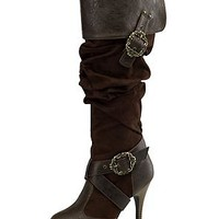 Deluxe Pirate Boots Women brown