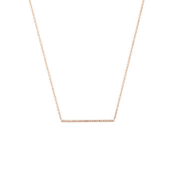EF COLLECTION Diamond Bar Necklace in Rose Gold | REVOLVE
