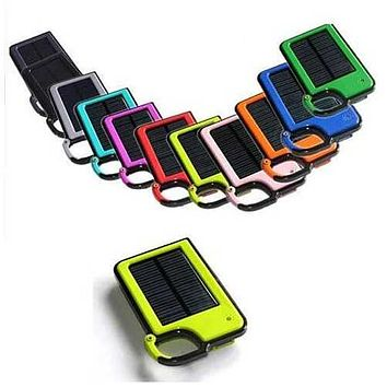 Clip-on Tag Along Solar Charger For Your Smartphone - Color: Light Blue