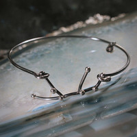 VIRGO Sterling Silver bracelet - Oxidized constellation jewelry, perfect for Xmas gift, personalized jewelry under 50