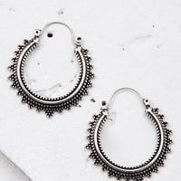 Etched Filigree Hoop Earrings