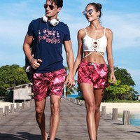 Couple board shorts swimming trunks men women joggers running swimsuit beach surfing boardshort sport swimwear plus bermudas