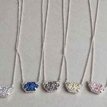 MD Sale! Silver Druzy Kendra Inspired Necklaces
