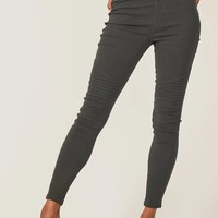 Marissa Moto Jeggings - Charcoal