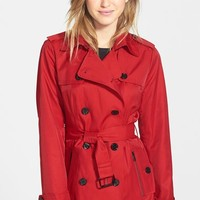 Women's MICHAEL Michael Kors Double Breasted Trench Coat,