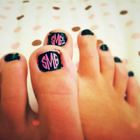 Monogram Nail Decals