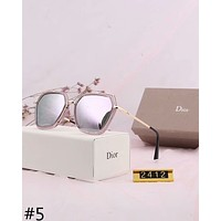 DIOR 2018 new polarized sunglasses round face big box personality myopia sunglasses #5