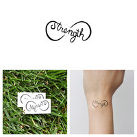 Infinity Strength Symbol  - Temporary Tattoo (Set of 2)