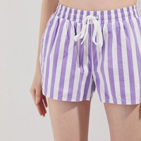 UO Eve Striped Drawstring Short | Urban Outfitters