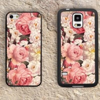 Flores vintage iPhone Case-Flowers iPhone 5/5S Case,iPhone 4/4S Case,iPhone 5c Cases,Iphone 6 case,iPhone 6 plus cases,Samsung Galaxy S3/S4/S5-129