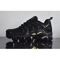DCCK 2018 Nike Air Max Plus TN VM 'Black&Gold' Vapormax Vapor Max Men Fashion Running Sneakers Sport Shoes
