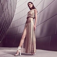 Attractive Gold Bandage Dress H2302