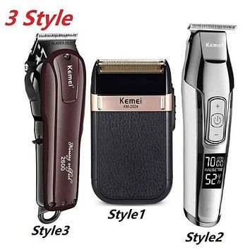 3 Style Professional Electric Hair Clipper Rechargeable Hair Trimmer Beard Shaver Hair Cutting Machine