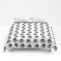 Elephant Comforter - Bed Cover - Bedding - King - Queen - Full - Twin - Made to Order