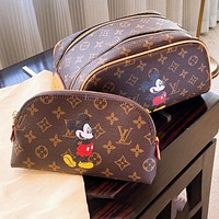 LV cosmetic bag Mickey mouse cosmetic bag Mickey new style coffee