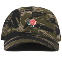 Peach Rose Unstructured Hat Tiger Camo