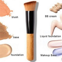 Makeup Brushes Powder Concealer Blush Liquid Foundation Make up Brush (Color: Brown) = 5987799937