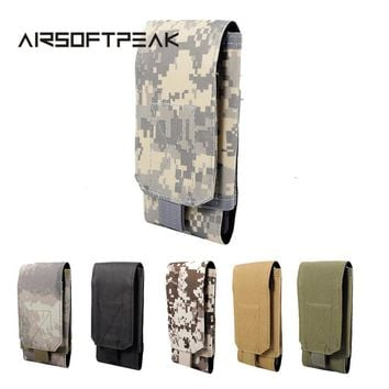 AIRSOFTPEAK Tactical Waist Phone Belt Pouch Molle 5.5 Inch Cellphone Pouch Military Mobile Phone Pouches Accessory Bags